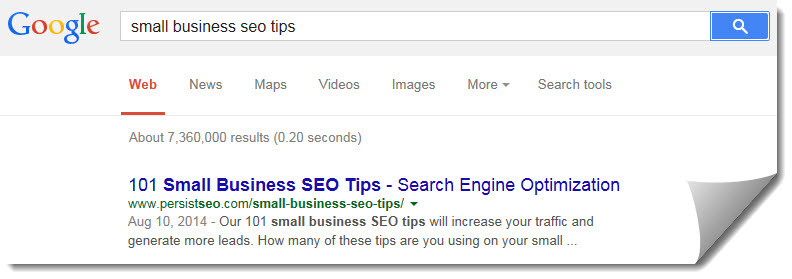 seo tips google search