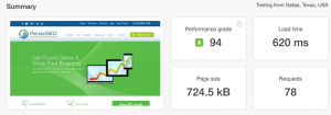 page speed test persistseo